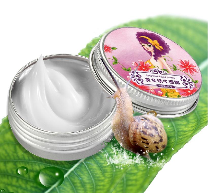 1PCS Snail Cream Moisturizing Whitening Face Care Anti wrinkle Nourish Snail Repair face cream(China (Mainland))