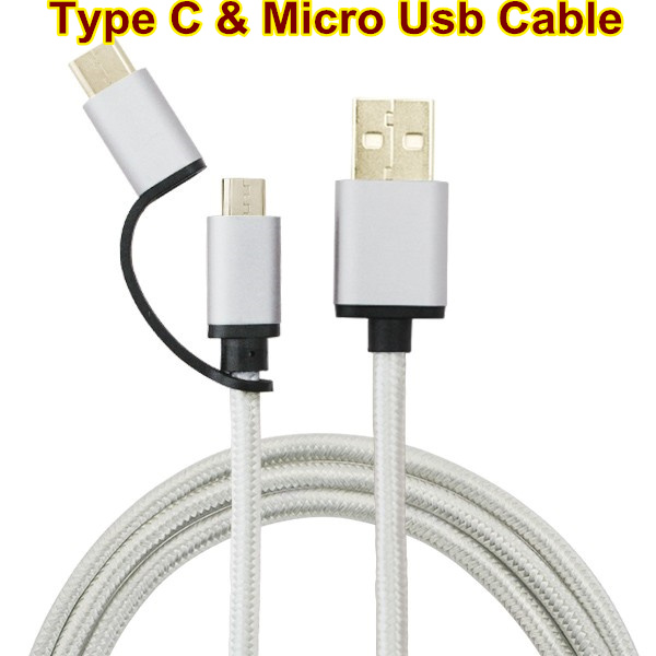Type C Cable Micro USB Sync Charge Data Cable Connector For Huawei P9 For Androd/ZUK Z1/ for Nexus 5X 6P(China (Mainland))