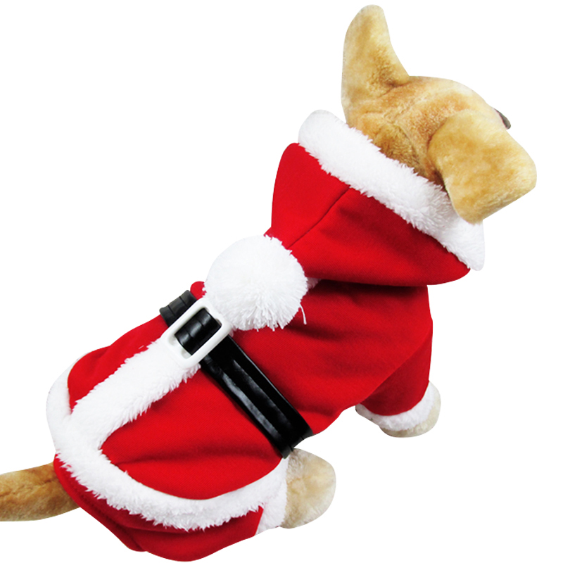 Pet Puppy Dog Christmas Clothes Santa Claus Costume Outwear Coat Apparel NVIE(China (Mainland))