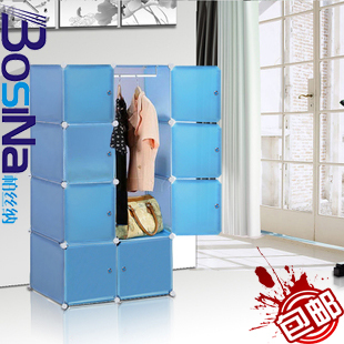 Simple wardrobe folding clothes storage cabinet combination shelf yigui<br><br>Aliexpress