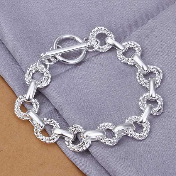 aliexpress Plating silver Double twisted wave TO men bracelet 100% Hand Madeball SMTH319(China (Mainland))