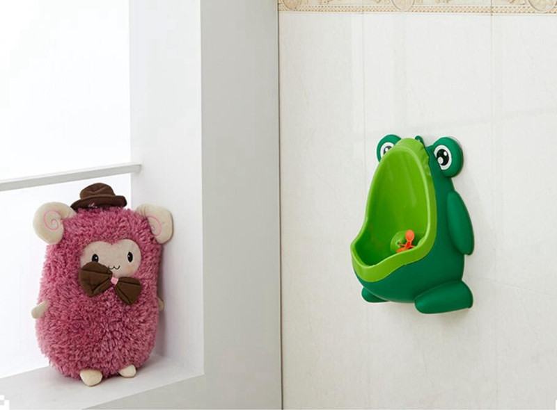 Cute Frog Baby Potty Toilet Urinals Boy Assento Sanitario Infantil Children Potty Toilet Training Kids Urinal Plastic Trainers (9)