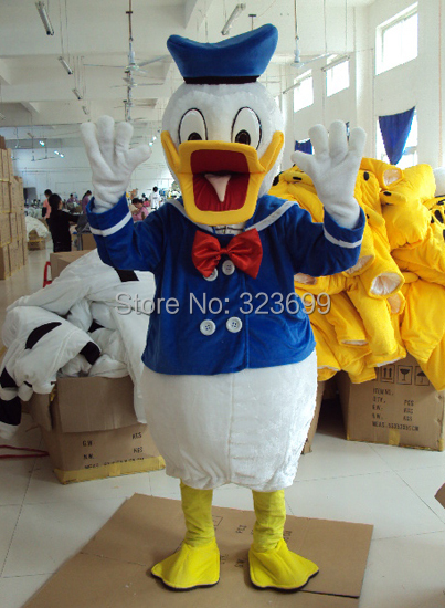 Donald Duck mascot costume Donald Duck adult costumes bizarre dress free shipping(China (Mainland))