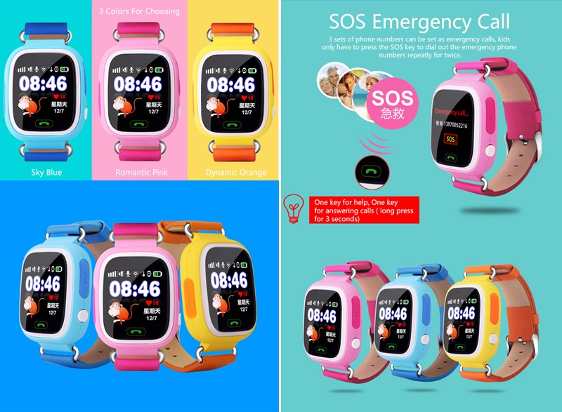 Little Giant Genius Kid GPS Tracker Smart Watch Colorful Wristwatch SOS Anti Lost Support GSM Compatibility Android&IOS Phone