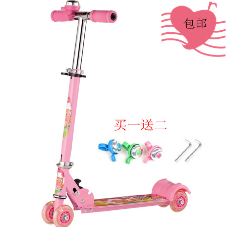 Steel flash four scooters child tricycle belt shock absorption pedal skating car 4runner slippery cars(China (Mainland))