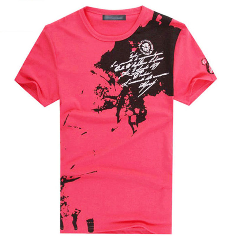 HOT Free Shipping 2015 New Men s Casual Slim Fit Stylish Short Sleeve Shirt Cotton T