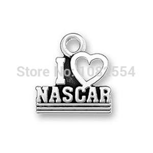 top sell 2014 new fashion pendants or charms I LOVE NASCAR letters on circle jewelry for decotation on top selling(China (Mainland))