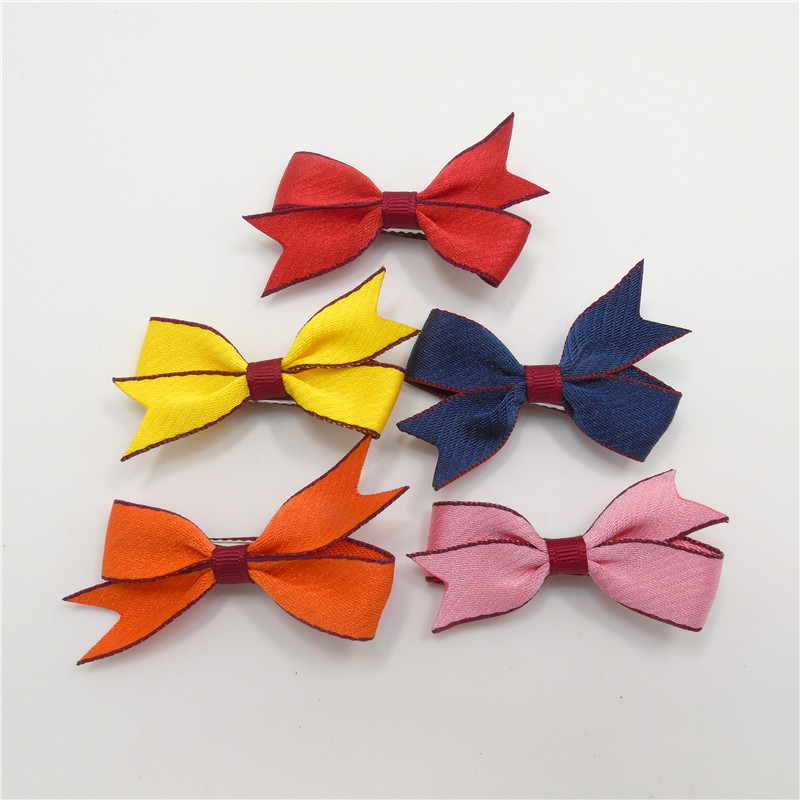 30pcs/lot Novelty Butterfly Bow Purfle Baby Hair Clips Red Orange Pink Yellow Orange Hair Bow Toddler Hairpins Sweet Girls Grips(China (Mainland))