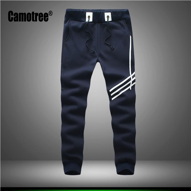Mens Joggers Sweatpants for Men 100% Cotton Jogging Pant Gym Clothing SweatPants Grey Black Navy Blue Jogger Pant Lightweight(China (Mainland))