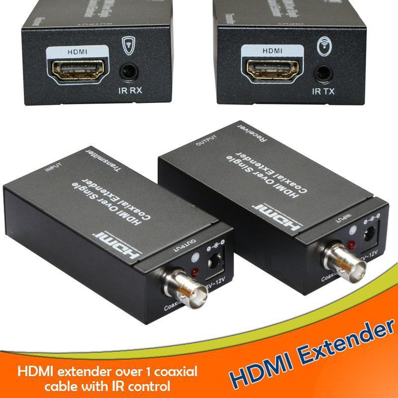 Super stability 1080P hdmi extender with ir remote HDMI Extender Over single 100m/328ft Coaxial RJ45 Cables hdmi extender 100m(China (Mainland))