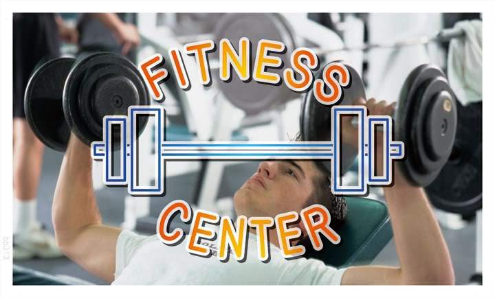 bb313 Fitness Center Gym Banner Sign(China (Mainland))
