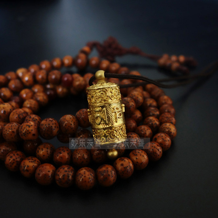 Copper Tibet Prayer Wheel Pendant Necklace,Freely rotate smoothly, Exquisite and delicate carved prayer mantra,Metal crafts(China (Mainland))