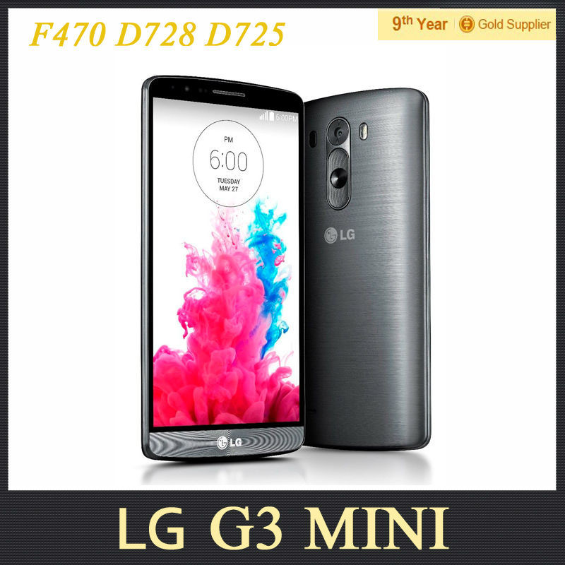 "LG G3 MINI D722 D725 D724 Original Mobile phone 5.0""inches 1GB RAM 8GB ROM 8MP GPS Andriod4.4 Refurbished Cell Phone(Hong Kong)"