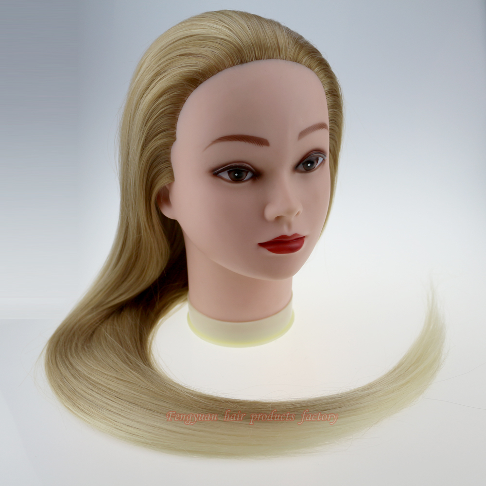 26inch 27/613 hair mannequin head Hairdressing doll heads