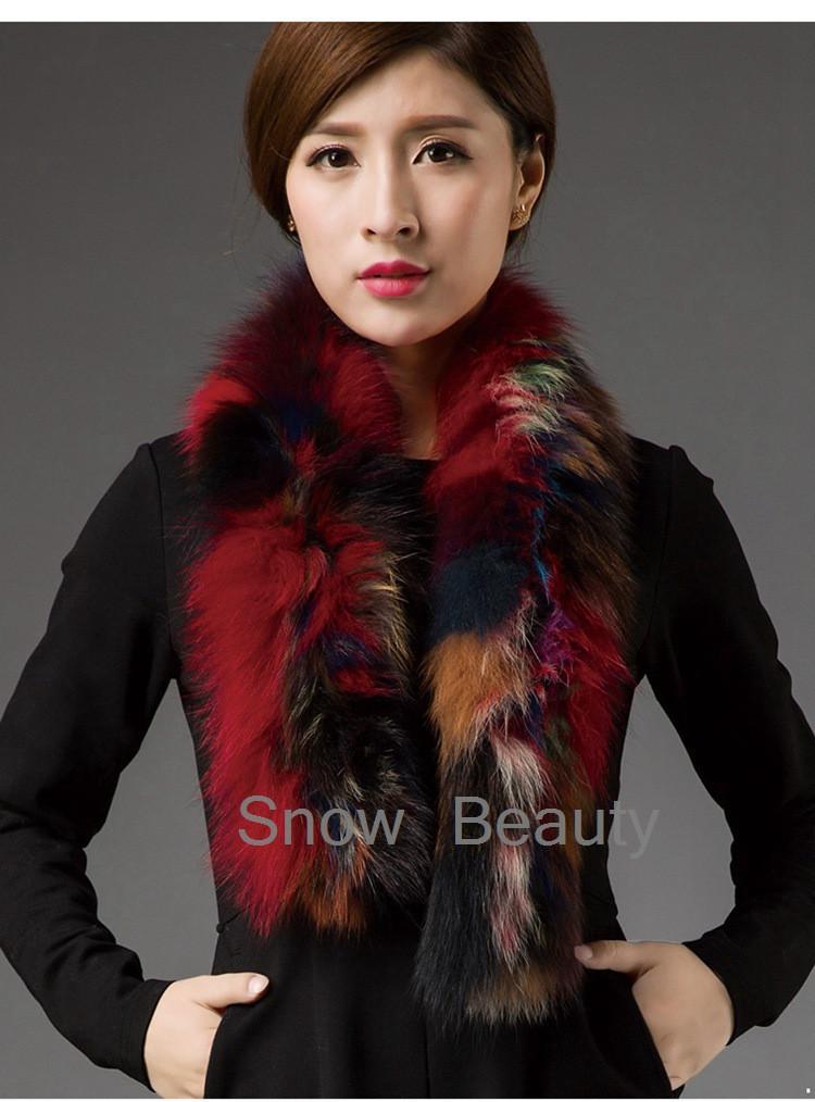 Women fox Fur Scarf 2017 New Arrive Fashion Winter Warm Genuine Knitted Real Silver Fox Fur Scarf Long Collar female stole