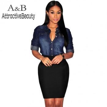 2015 летний стиль blusas мода одежда сексуальная клуб джинсовые блузки с длинным рукавом джинсы рубашка свободного покроя тонкий топы большие размеры 41