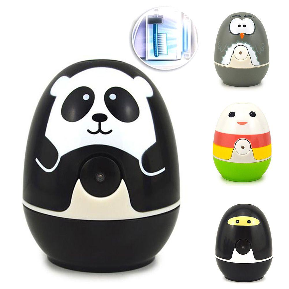 Eco-Friendly Plastic Cartoon Panda UV Light Toothbrush Sterilizer Lamp Storage Automatic Toothpaste Dispense Toothbrush Holder(China (Mainland))