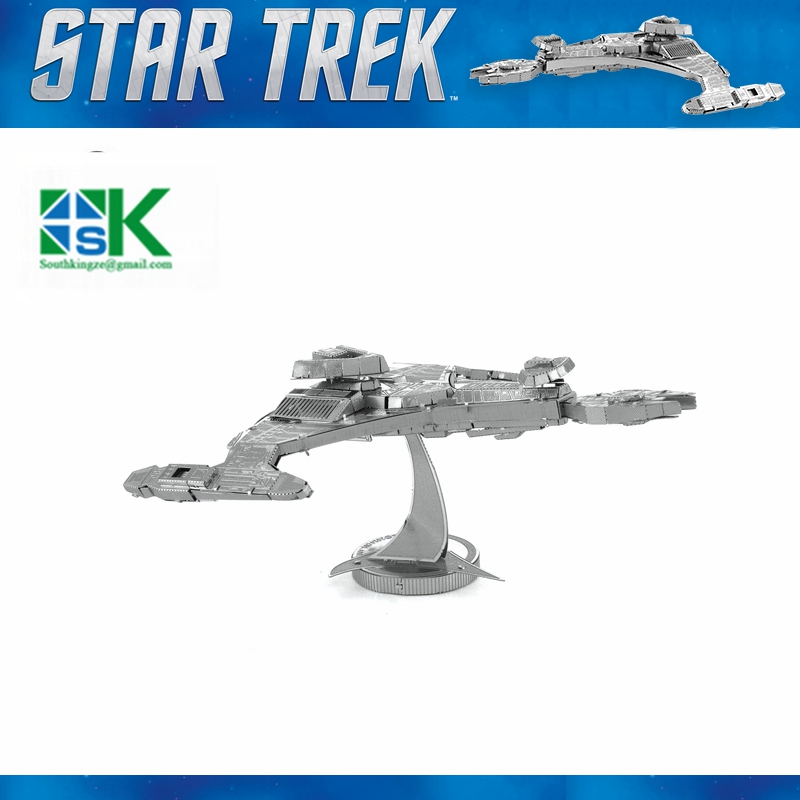 2016 New Star Trek KLINGON VORCHA 3D metal puzzle model nano 2 Sheets Wholesale price Stainless steel DIY Cr high quality(China (Mainland))