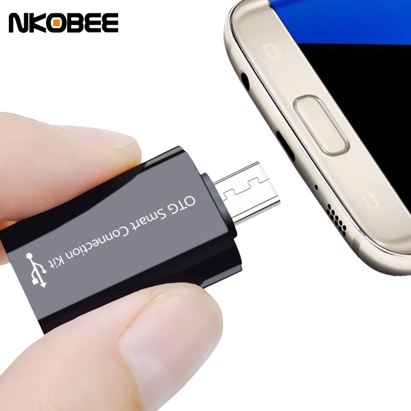 NKOBEE Micro Usb OTG Adapter 2.0 Converter For Samsung Galaxy S7 Edge S6 HTC LG Sony Xiaomi Meizu Android Tablet Smart otg cable(China (Mainland))