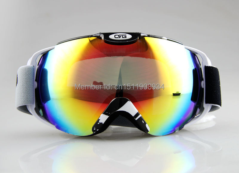 Free shipping professional MOTOCROSS SNOW SNOWBOARD SKI GOGGLES Black and White FRAME COLOURED DOUBLE LENS 2014-2015 Style<br><br>Aliexpress