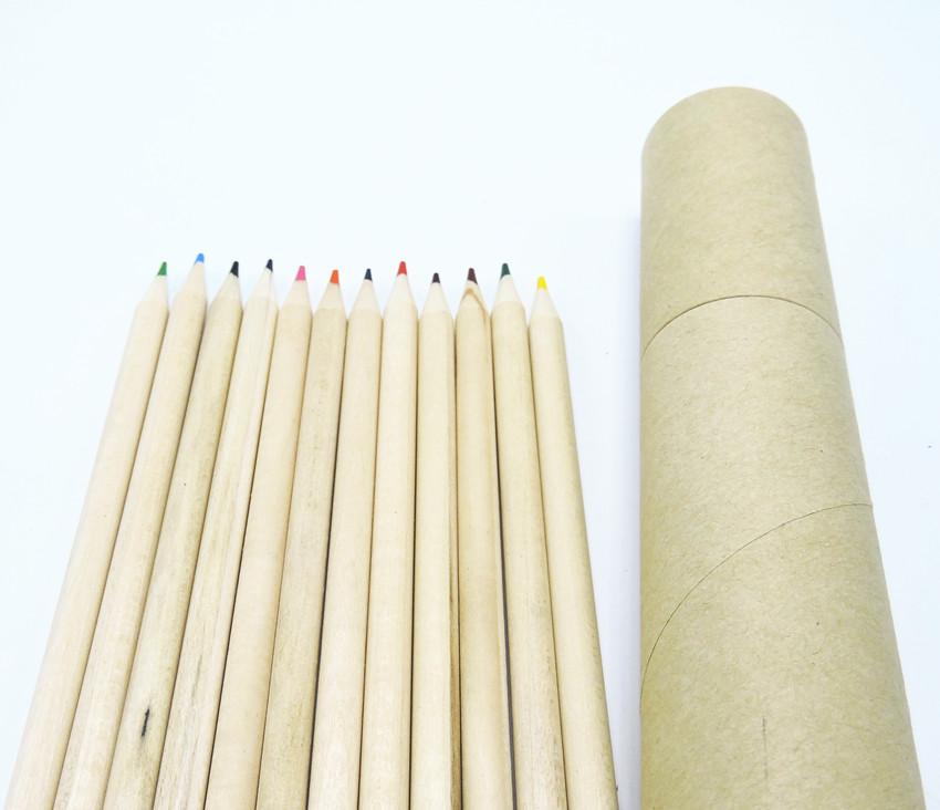 (12Pcs/set) Color Pencil Set Natural Packaging Colour Pencils For Secret Garden Total 12 Colours Art Coloring Pencil Set(China (Mainland))