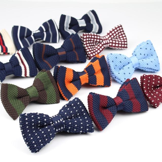Новый стиль мужчины женщины вязать боути регулируемая бабочка двухэтажных галстуки ...