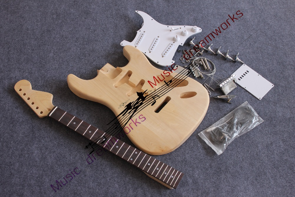 China OEM electric guitar, semi-finished guitar, personal DIY craft the guitar The ST guitar
