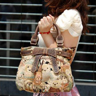 Princess lolita bag Hot-selling knitted Camouflage canvas DANNY BEAR womens handbag cross-body dual-use package<br><br>Aliexpress