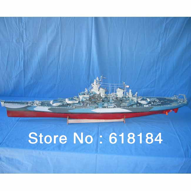 Free shipment A3 paper ships model Large 135cm Long 1:200 WWII Super warships US USS Missouri BattleShip 3d puzzles collectables(China (Mainland))