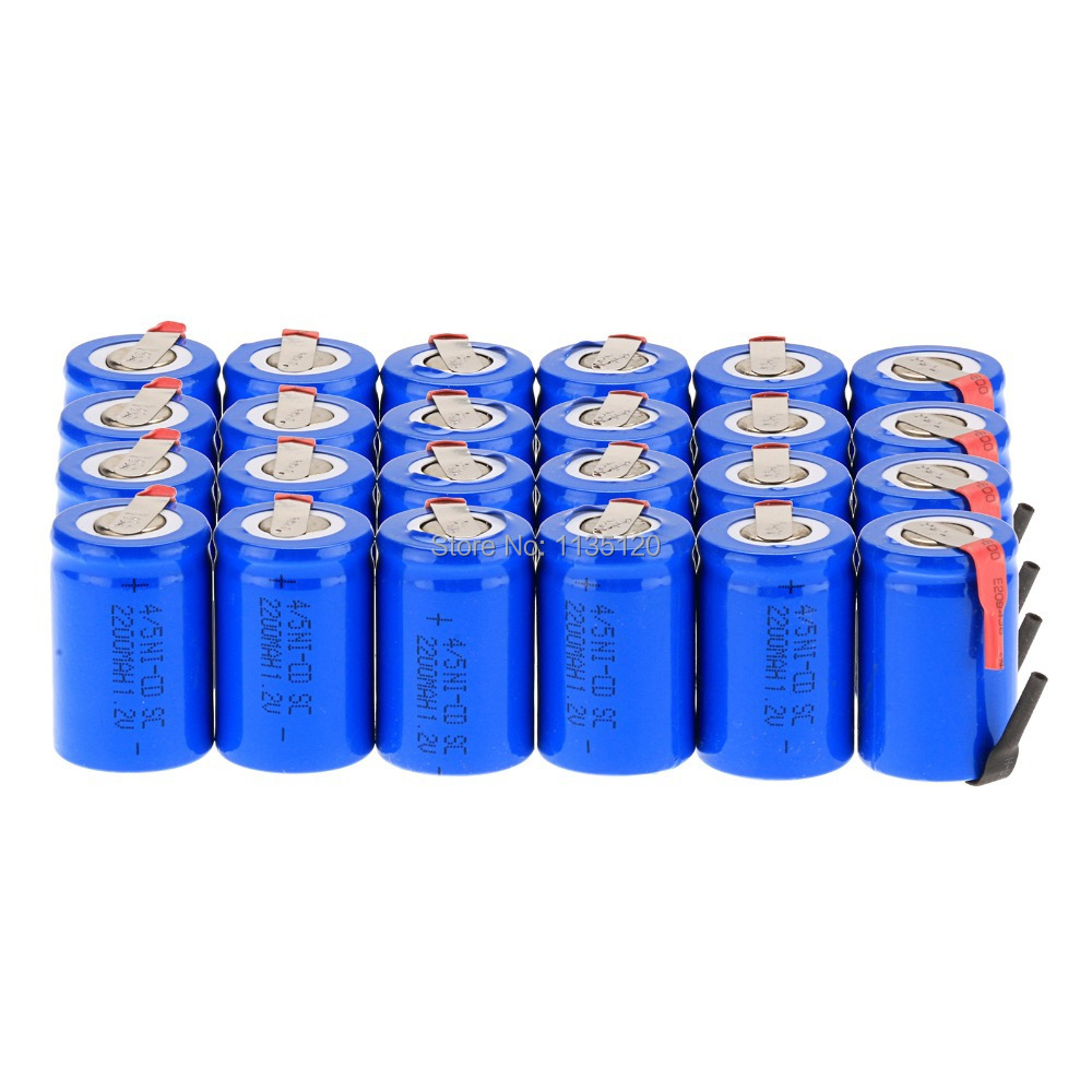 Аккумулятор 24PCS ni/Cd 4/5 C 1.2V 2200mAh аккумулятор для шуруповертов hitachi 14 4 в 1 5 а ч ni сd hb dcw ni patriot 190200104