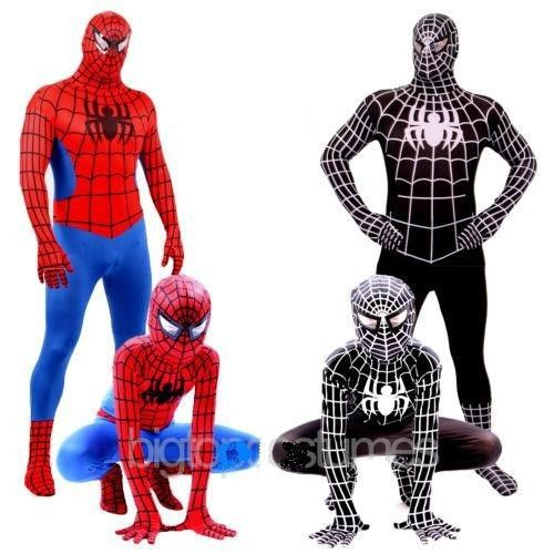High Quality Spiderman costumes cosplay halloween costumes for kid adult Superhero Bodysuit breathable material F0106