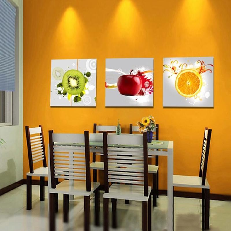 Canvas art kitchen wall art fruit juice kitchen decor oil - Kitchen canvas wall decor ...