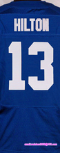 Men's #1 Pat McAfee #12 Andrew Luck #13 Hilton #23 Frank Gore #93 Erik Walden elite jerseys, Blue White(China (Mainland))