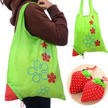 1 Piece Eco Storage Handbag Strawberry Foldable Shopping Tote Reusable Bags Random Color(China (Mainland))