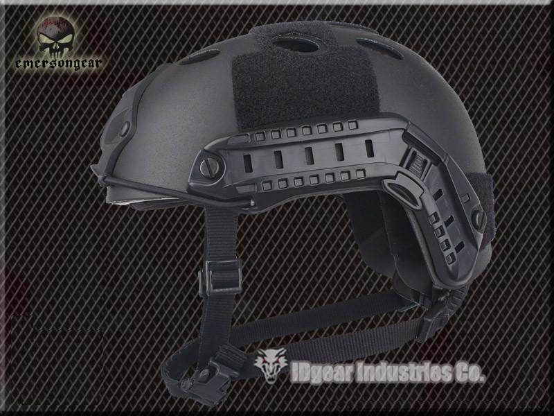 Carbon Fiber Helmet EMERSON FAST Helmet Pararescue Jump PJ TYPE Airsoft Black EM5668L(China (Mainland))