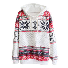 New Fashion Women Pullover Snowflake Print Long Sleeve Knitted Sweater Female Christmas Sweater Casual Pullover(China (Mainland))