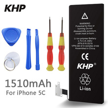 100% Original Brand KHP Phone Battery For iphone 5C Real Capacity 1510mAh With Machine Tools Kit Mobile Batteries(China (Mainland))