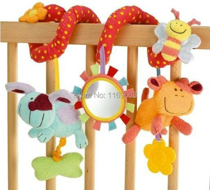 Free Shipping Infant ELC Multifunctional Toy Bay Bed Around Car Hanging Newborn Baby Rattles Toy Baby Mobiles Child Rattle Toys(China (Mainland))