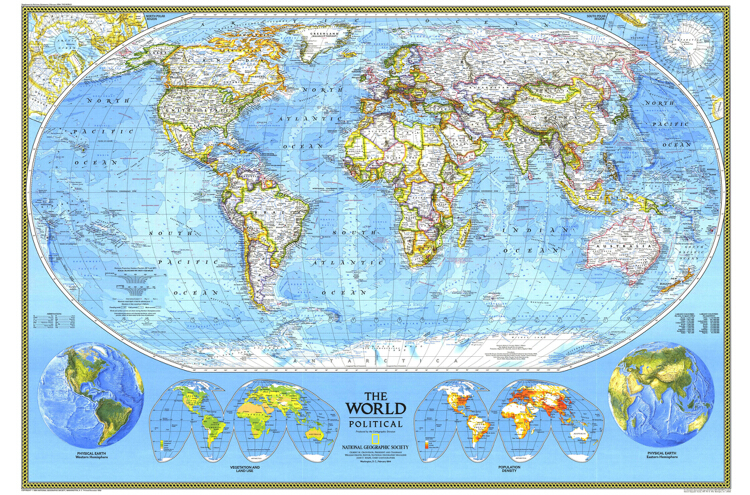 RETRO home decor wall art world map vintage poster High gloss Photographic paper crafts kids wall sticker painting core mural(China (Mainland))