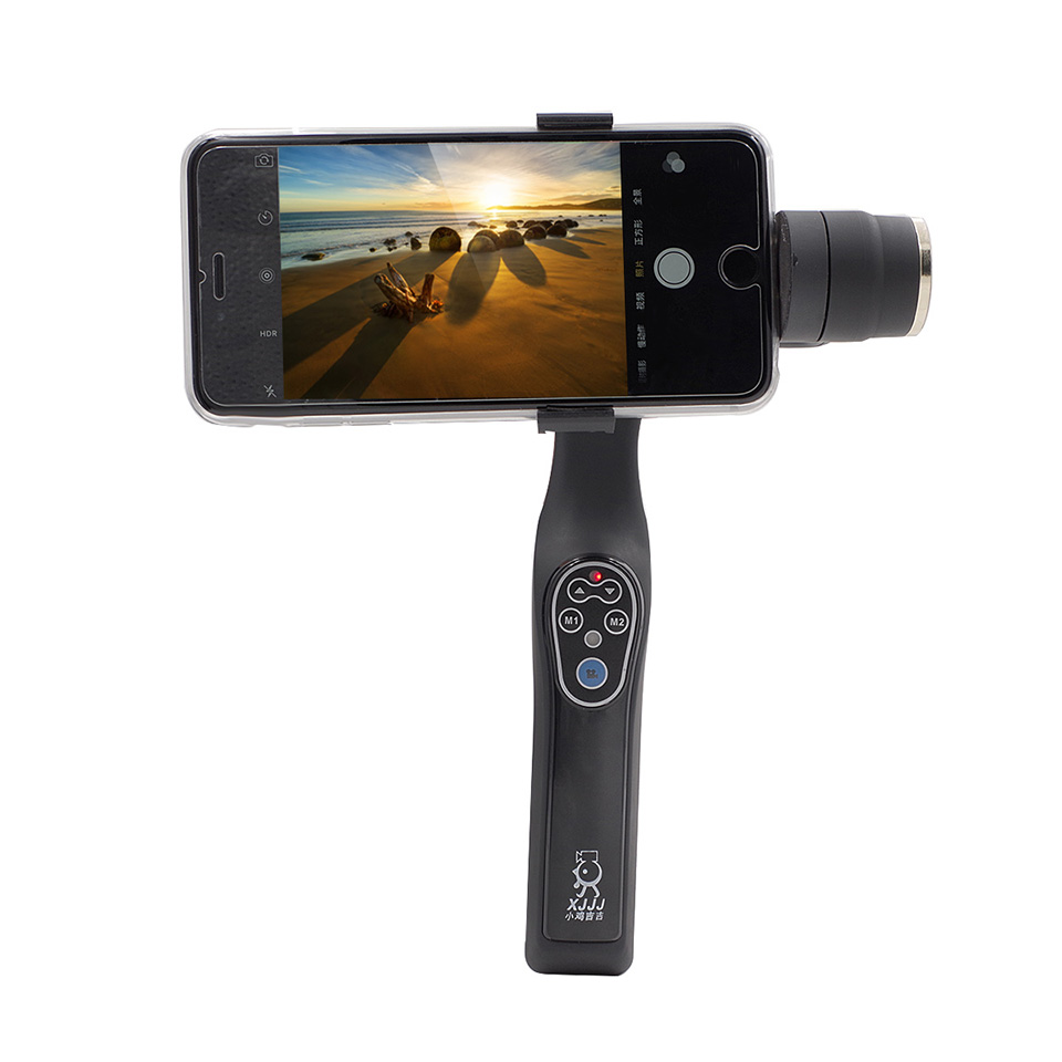 Original XJJJ JJ-1 2Axis Brushless Handle Gimbal Phone Mount Support Bluetooth for Smart Android IOS Phone Free Shipping<br>