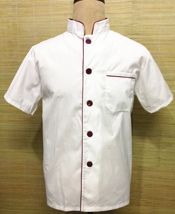 Chef coat short-sleeved clothing hotel restaurant pastry chef clothing kitchen clothes bakers(China (Mainland))