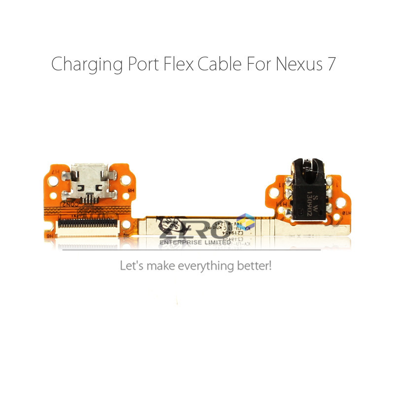 Original for ASUS Google Nexus 7 1st Gen USB Charging Port + Headphone Jack Flex Cable Dock Charger Connector Parts Replacement(China (Mainland))