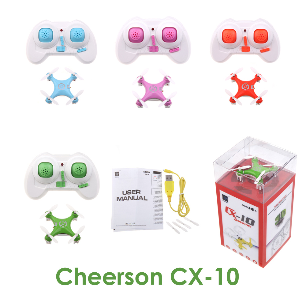 High quality RC toys CX-10 2.4G Remote Control Toys 4CH 6Axis CX 10 RC Quadcopter RC Plane CX 10 helicopters flashing light New(China (Mainland))