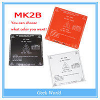 New RepRap 3D Printer PCB Heatbed MK2B Heated Bed Hot Plate For Prusa&Mendel MK2A MK1 White Red Black Color! BT0026-3D