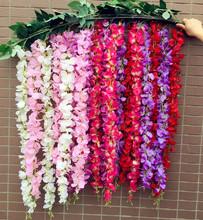 Silk Wisteria Bean Vine 175cm Artificial Acacia Wisterias Hydrangea Pagoda Flower Rattans for Wedding Centerpieces Decoration(China (Mainland))