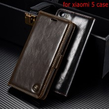 Original CaseMe Brand Leather Case xiaomi 5 mx5 Magnet Flip Cover coque mx case phone shell - Holly Reliable (HK store industry co.,LTD store)