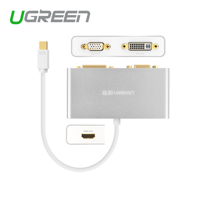 Ugreen Thunderbolt Mini DisplayPort to HDMI VGA DVI Cable adapter premium display port to HDMI 3 in1 for Apple Macbook Pro Air(China (Mainland))
