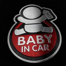 baby car aluminum sticker RIO K2 K3 K3S K4 K5 Sportage Forte SORENTO CERATO Soul Ford Focus VW POLO Car Acc - AAAAAAAAAAA Store store