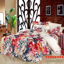 Luxury floral wedding  bedding set queen king size s sets  duvet cover bedsheet quilt bed linen sheet painting(China (Mainland))