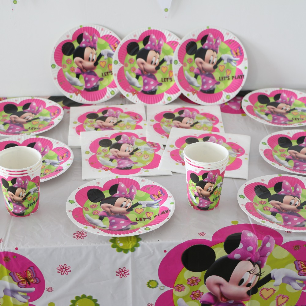 Online buy wholesale minnie mouse party decorations from for Baby minnie mouse party decoration